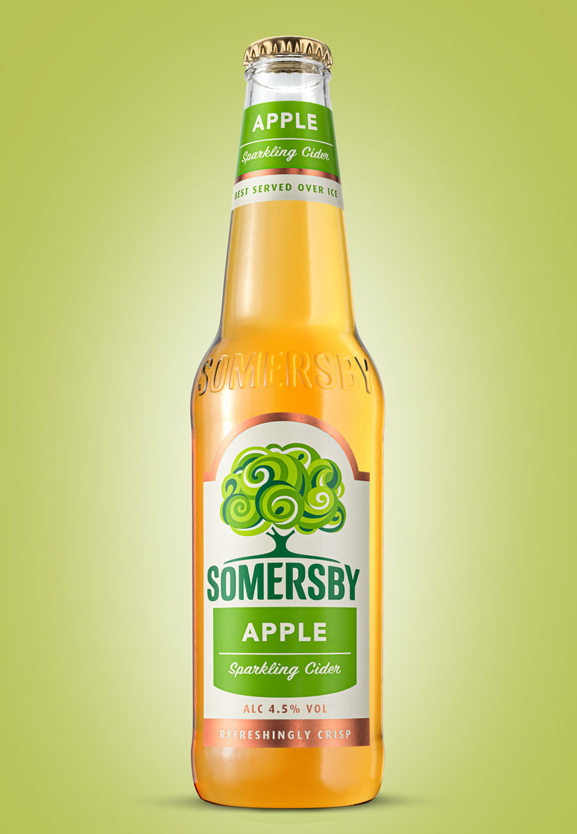 3D-produktvisualisierung-flasche-apfel-drink