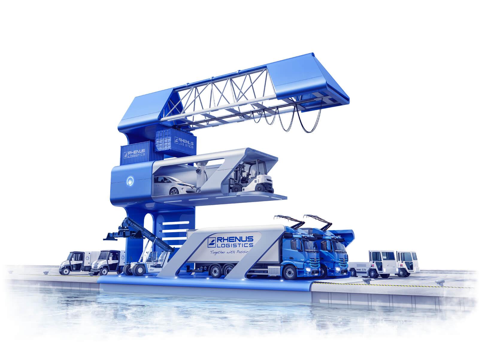 Produktvisualisierung von Fahrzeugen im Bereich Automotiv, Logistik